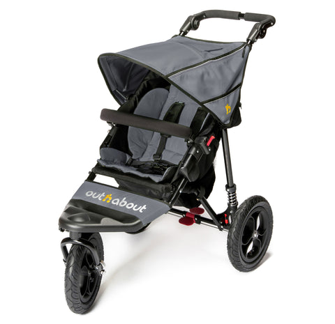Out n About Nipper 360 Single V4 Steel Grey - End June Delivery