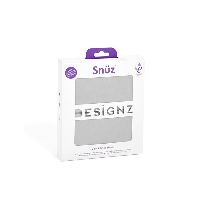 SnuzPod Crib 2 Pack Fitted Sheets - Grey