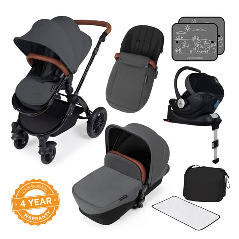 Ickle Bubba Stomp V3 i-Size All in One Bundle - Black/Graphite with Tan Handle - Delivery Mid February 2020