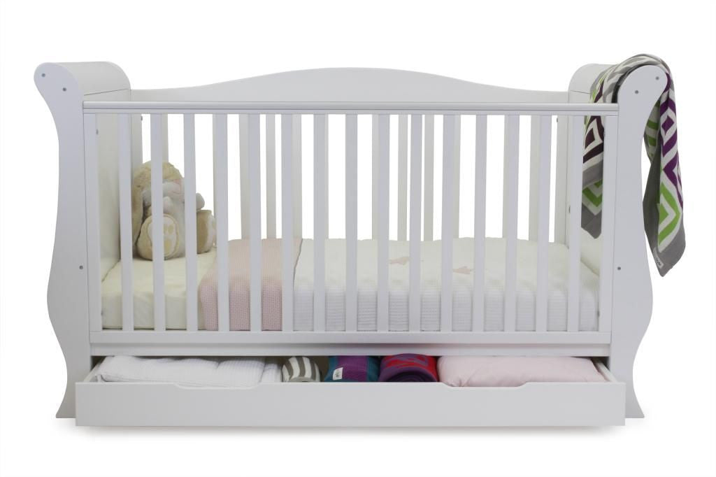 BabyStyle Hollie Sleigh Bed - Fresh White - Delivery Mid July