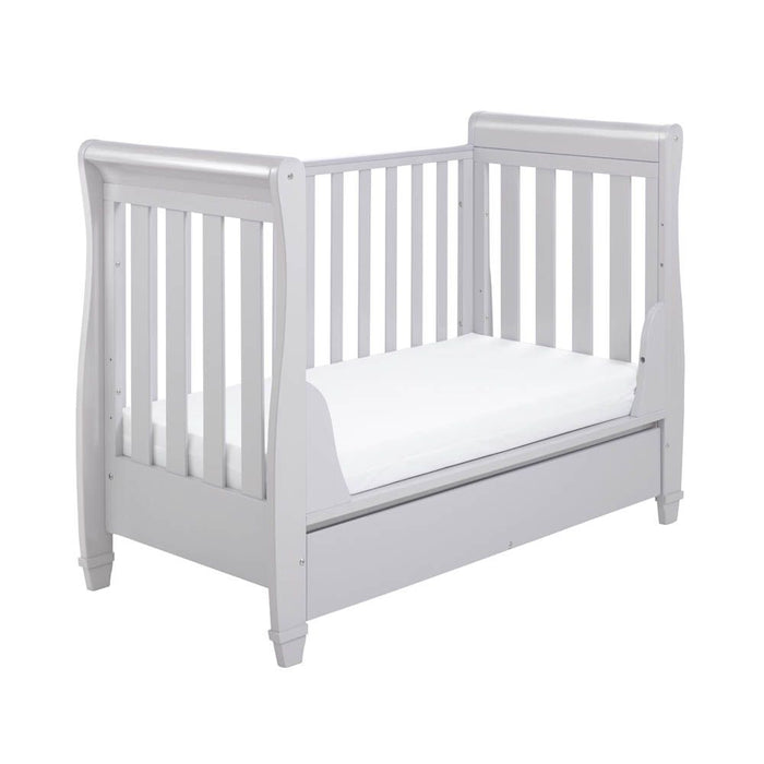 Babymore Eva Drop Side Cot Bed - Grey