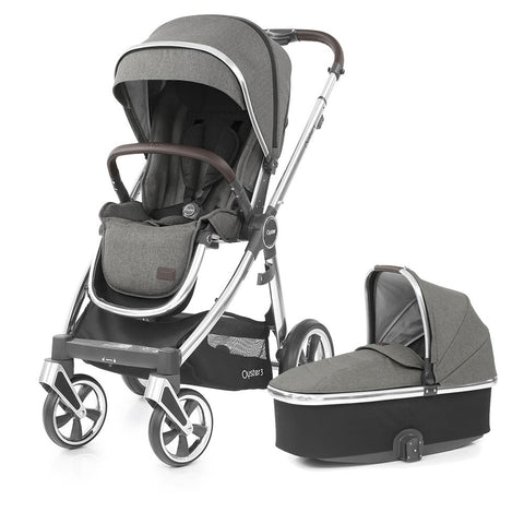 BabyStyle Oyster 3 Pushchair & Carrycot - Mercury on Mirror Chassis - Delivery Mid September