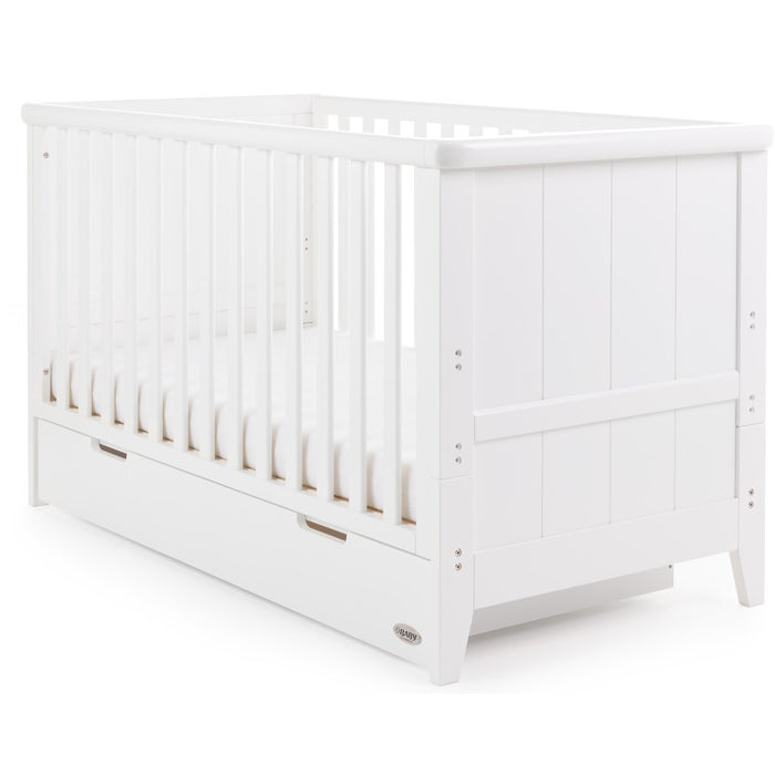 Obaby Belton Cot Bed + Drawer - White