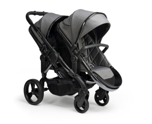 iCandy Peach Double Pushchair - Phantom Frame Dark Grey Twill Fabric