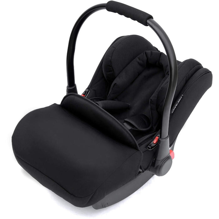 Ickle Bubba Stomp V3 All in One Travel System with ISOfix Base - Black with Black Frame/Tan Handle