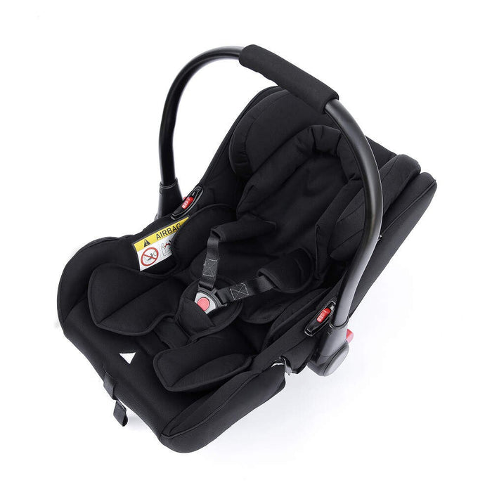 Ickle Bubba Stomp V3 All in One Travel System with ISOfix Base - Silver with Silver Frame/Tan Handle