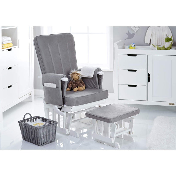 OBaby Stamford Luxe 7 Piece Room Set including Deluxe Glider Chair - Taupe Grey - Late Nov Delivery