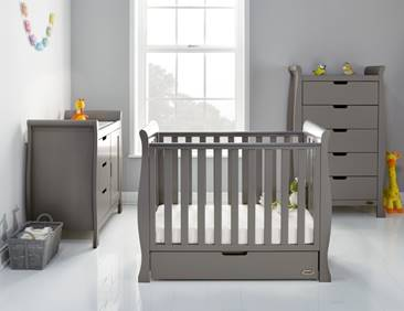 Stamford Space Saver Cot with Under Drawer - Taupe Grey - Delivery Mid Oct