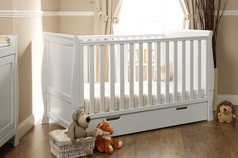 Obaby Lincoln Sleigh Cot Bed - White