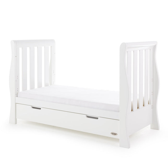 Obaby Stamford Luxe Sleigh Cot Bed - White