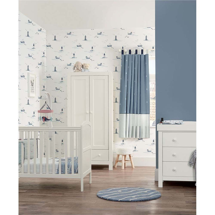 Mamas & Papas Dover 3 Piece Cot Room Set - White - Mid October Delivery