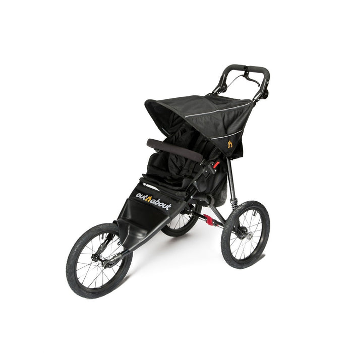 Out n About Nipper Sport V4 Pushchair - Raven Black - August Delivery (Low Stock)