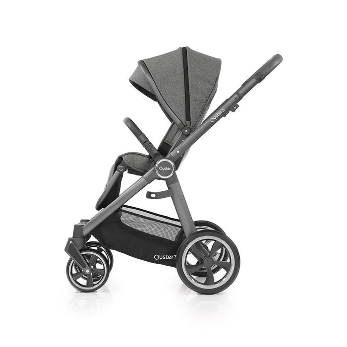 BabyStyle Oyster 3 Pushchair & Carrycot - Mercury on City Grey Chassis - Mid October