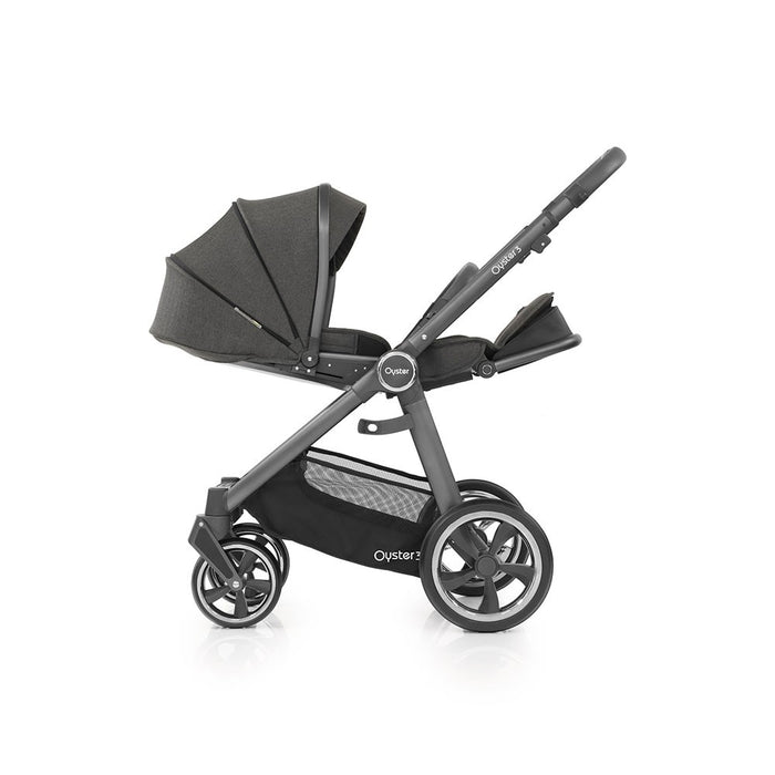 BabyStyle Oyster 3 Pushchair & Carrycot - Pepper on City Grey Chassis - Delivery Mid Dec