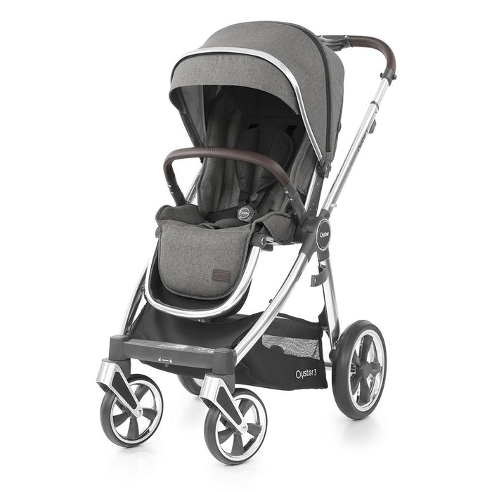 BabyStyle Oyster 3 Pushchair - Mercury on Mirror Chassis - Early August