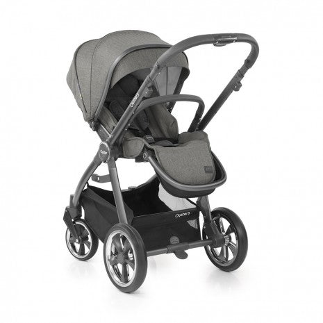 BabyStyle Oyster 3 Essential Bundle with Capsule i-Size Car Seat & Oyster Duofix Base - Mercury on City Grey Chassis - Delivery Early May
