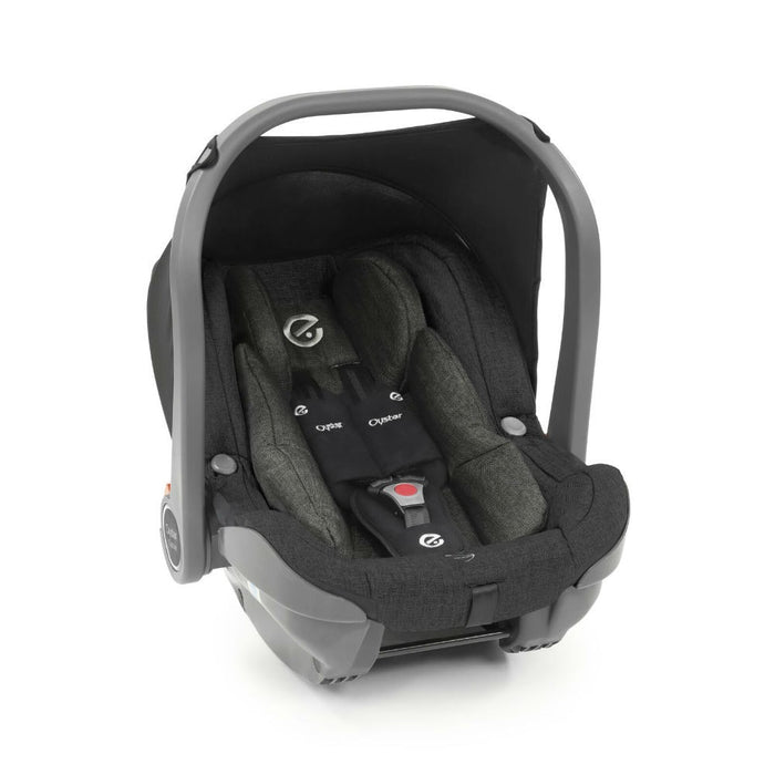 BabyStyle Oyster 3 Ultimate Bundle with Capsule i-Size Car Seat & Oyster Duofix Base - Caviar on Mirror Chassis - Delivery Late Dec