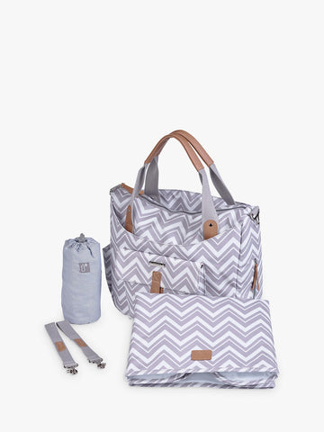Bababing Roma Changing Bag Grey Chevron