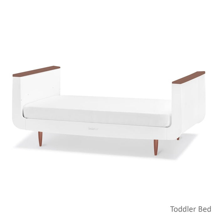 SnuzKot 2 Piece Cot Bed & Changing Unit - Skandi Metallics Rose Gold -  3-4 week delivery