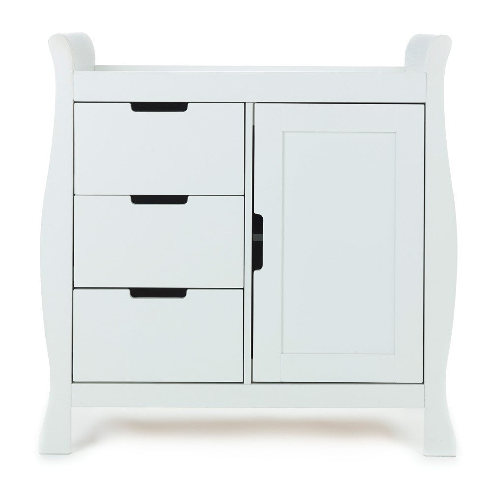 OBaby Stamford Sleigh Changing Unit   White In Stock
