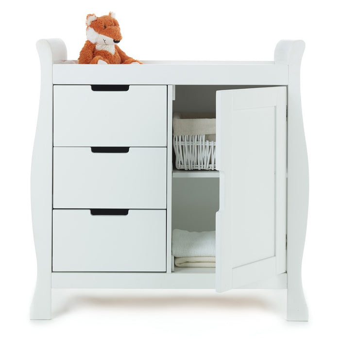 OBaby Stamford Sleigh Changing Unit - White