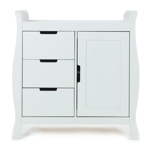 OBaby Stamford Sleigh Changing Unit - White In Stock