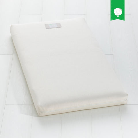 The Little Green Sheep Organic Cot Mattress 60x120cm with Mattress Protector