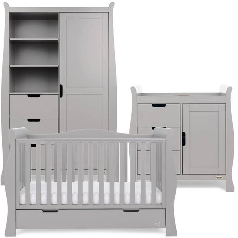 OBaby Stamford Luxe 3 Piece Room Set - Warm Grey