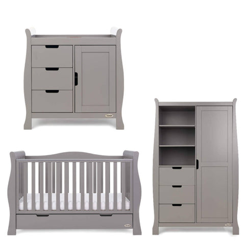 OBaby Stamford Luxe 3 Piece Room Set  - Taupe Grey