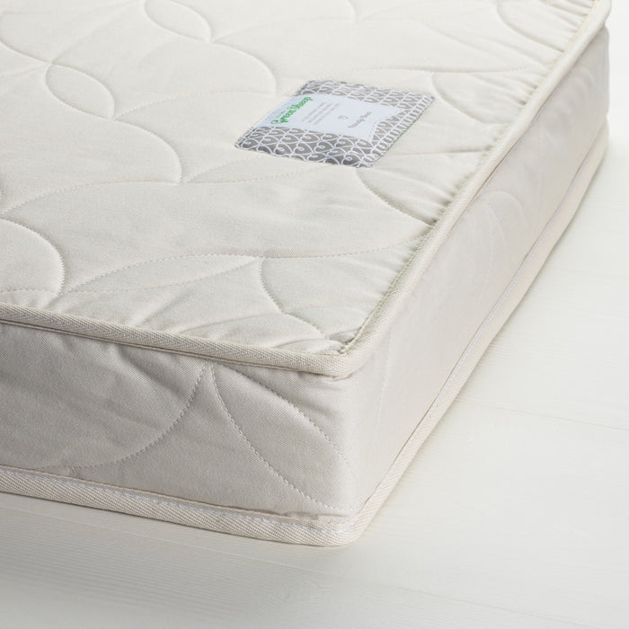 Twist Natural Latex Cot Bed Mattress 70x140cm with Protector