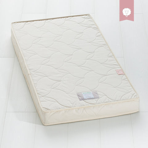 Twist Natural Latex Cot Mattress 60x120cm with Protector