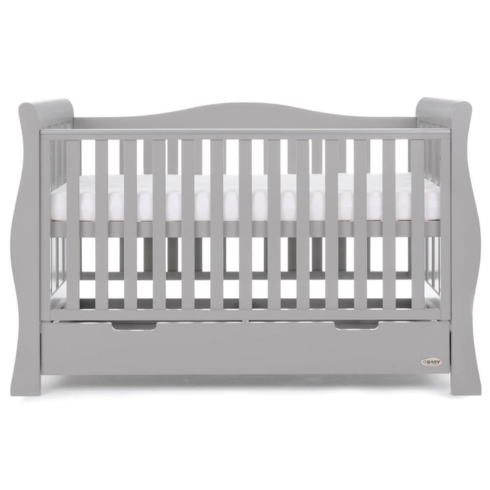 OBaby Stamford Luxe 7 Piece Room Set including Deluxe Glider Chair - Warm Grey - October Delivery