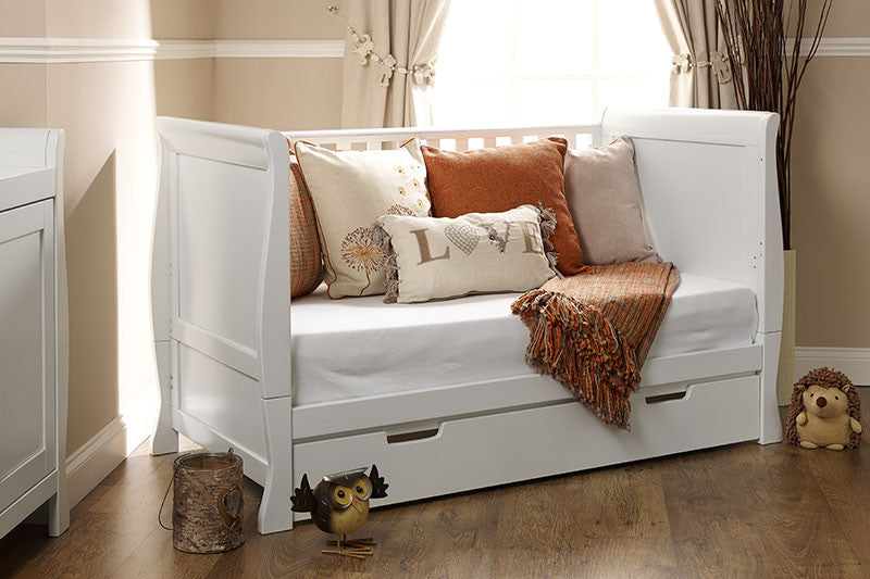 Obaby Lincoln Sleigh Cot Bed Room Set - White