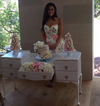 Queen Anne Dressing Table - For Hire - Crystal Doll Bridal