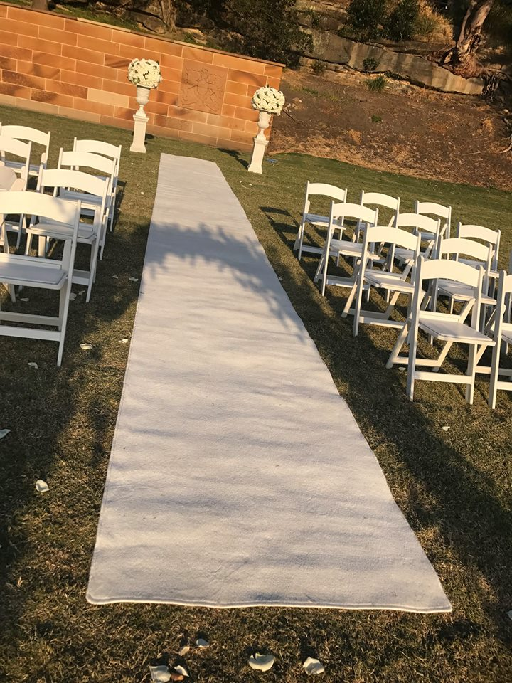 White Carpet Runner - Ceremony Aisle Runners