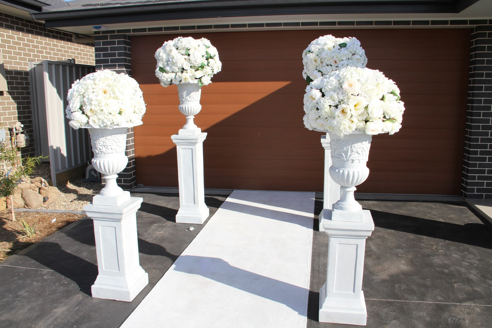 Over sized Flower Arrangement with Large Urn & Pedestal Hire