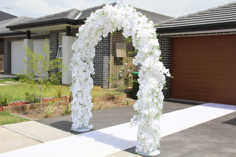 White Wedding Orchid Arch