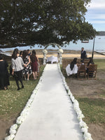White Carpet Runner - Ceremony Aisle Runners - Crystal Doll Bridal