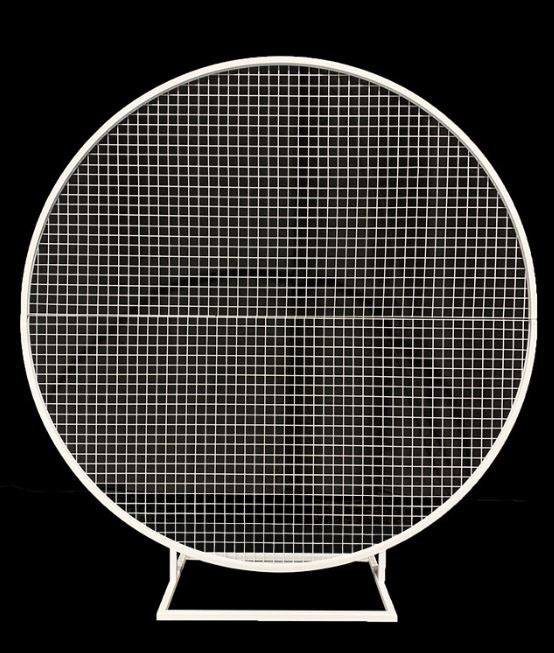 Plain Round Mesh Backdrop - Crystal Doll Bridal
