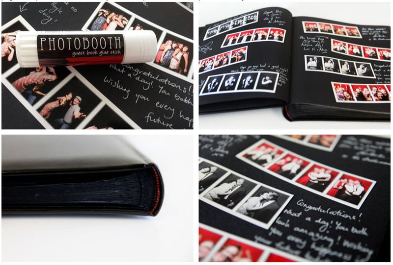 Studio Quality Leather Guest Book for SelfieME! Photobooths - Crystal Doll Bridal