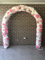 NEW! Pink Candy Wedding Arch - Crystal Doll Bridal