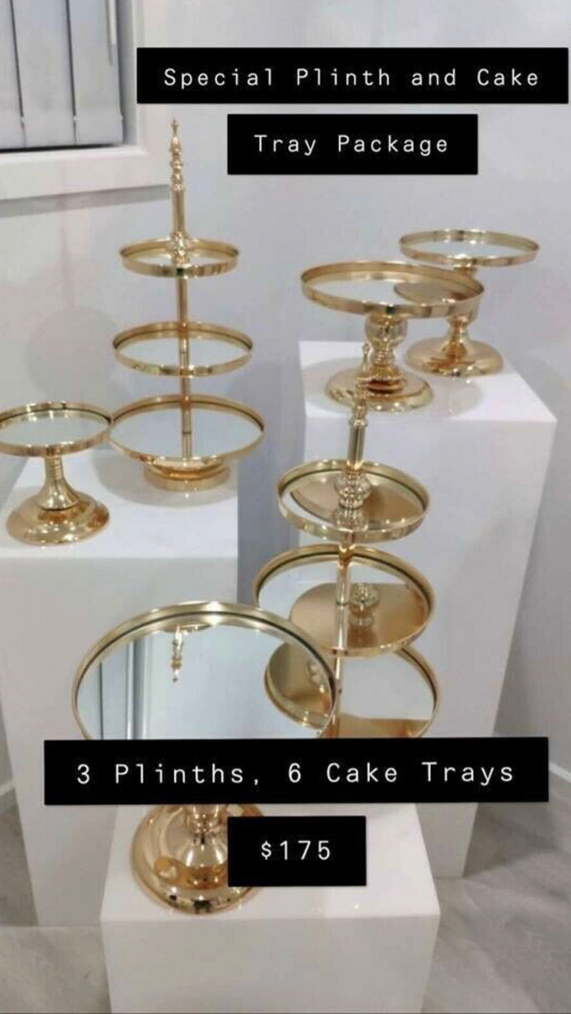 Plinths & Cake Trays Package - Crystal Doll Bridal