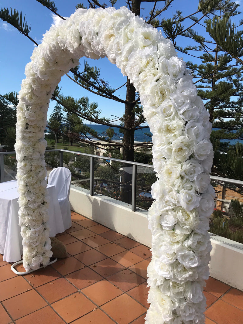 NEW! Peonie & Roses White Wedding Arch