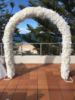 NEW! Peonie & Roses White Wedding Arch - Crystal Doll Bridal