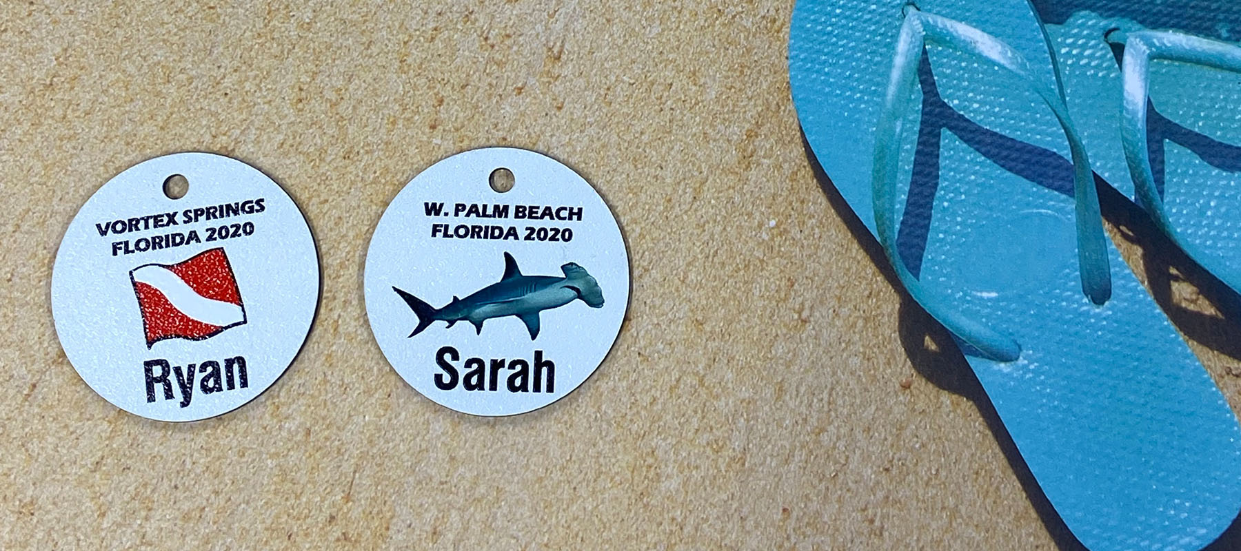 Dive Shop Custom Scuba Trip Tags