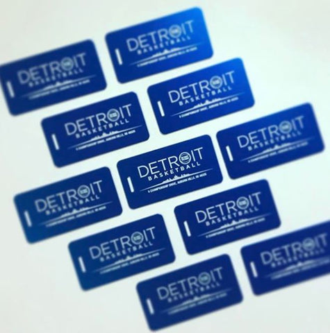 Custom Engraved Aluminum Metal Tags for Detroit Pistons NBA team