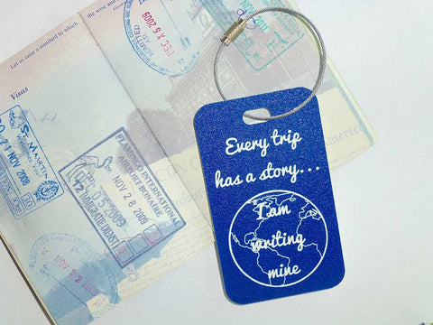 We are adding a line of travel quote luggage tags