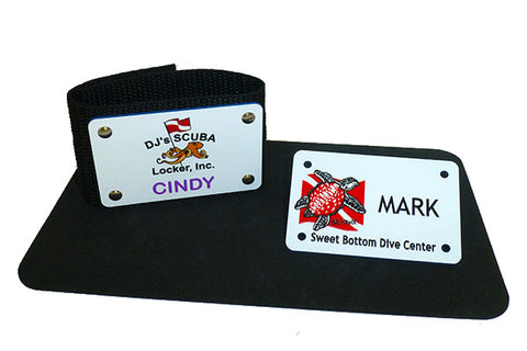 Full Color Custom Dive Shop BC Name ID Tags