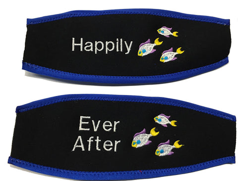 Embroidered Scuba Mask Strap Covers Make Unique Wedding Gifts