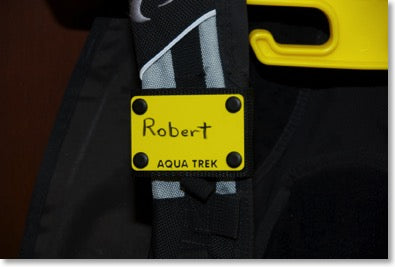 New Scuba BC Slate Name Tag